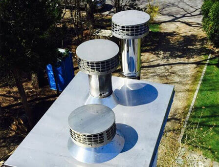 Chimney Chase Cover Installation East Hampton NY
